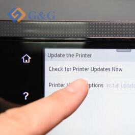 How to turn off the Inkjet printer update function.